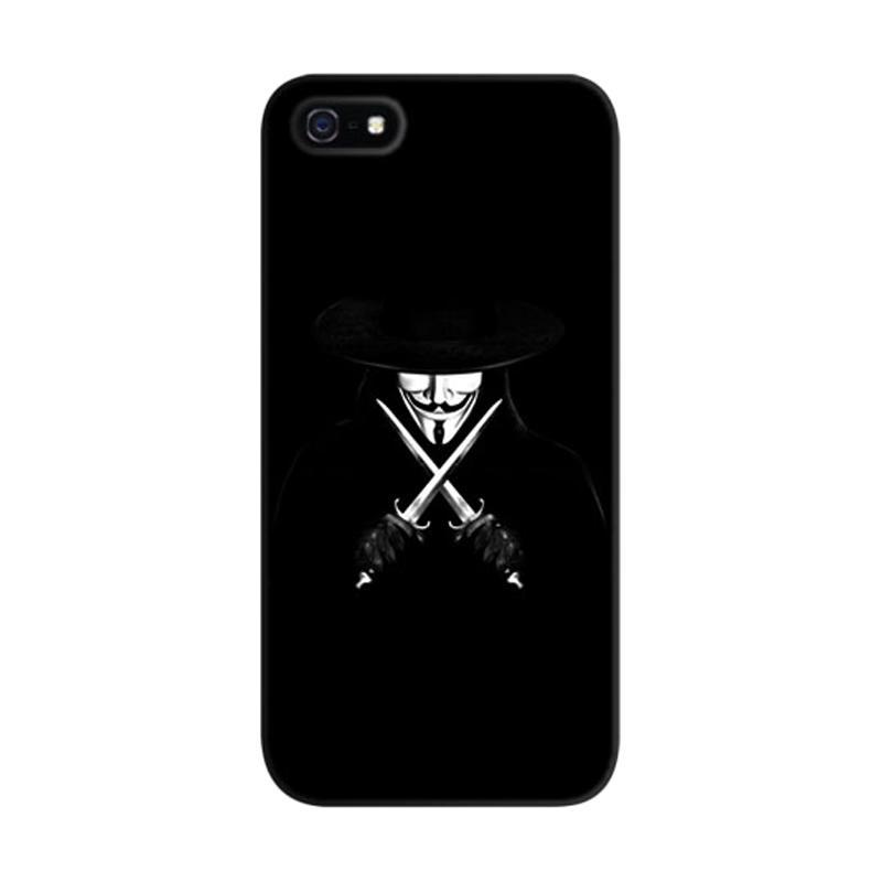 Indocustomcase V For Vendetta Custom Hardcase Casing for Apple iPhone 5/5S/SE