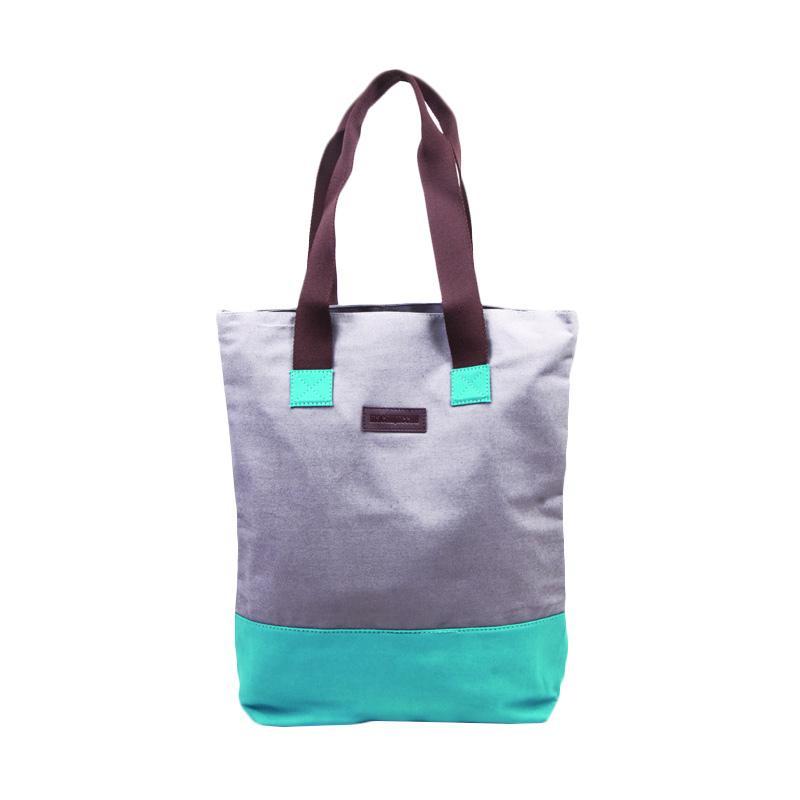 Machupicchu Tote Kana Bag CC BTO.17 Tas Wanita - Grey & Turquise
