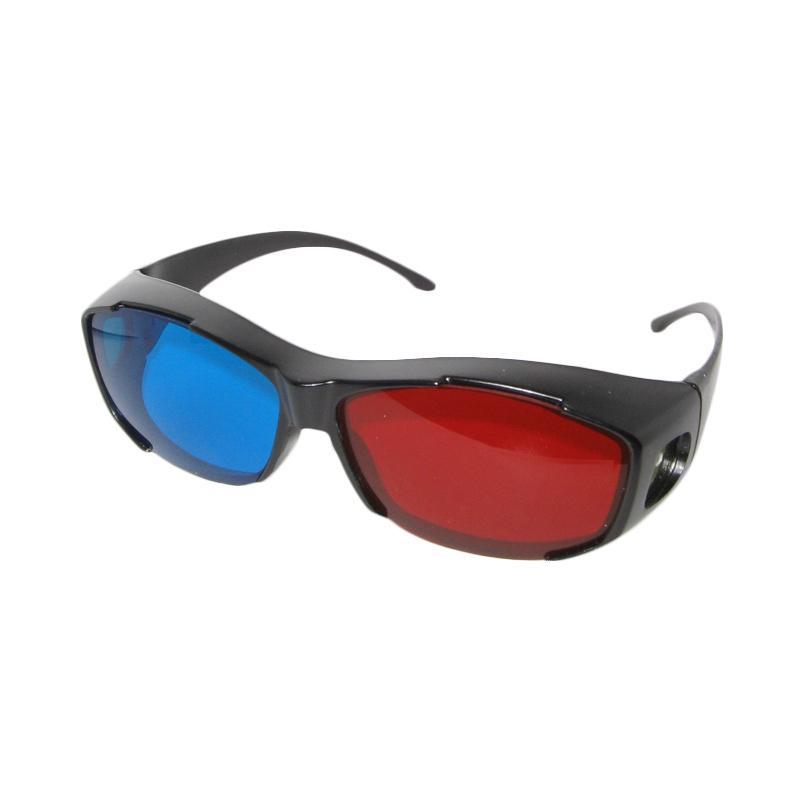 nVidia Vision Anaglyph Kacamata 3D - Red Cyan Merah Biru