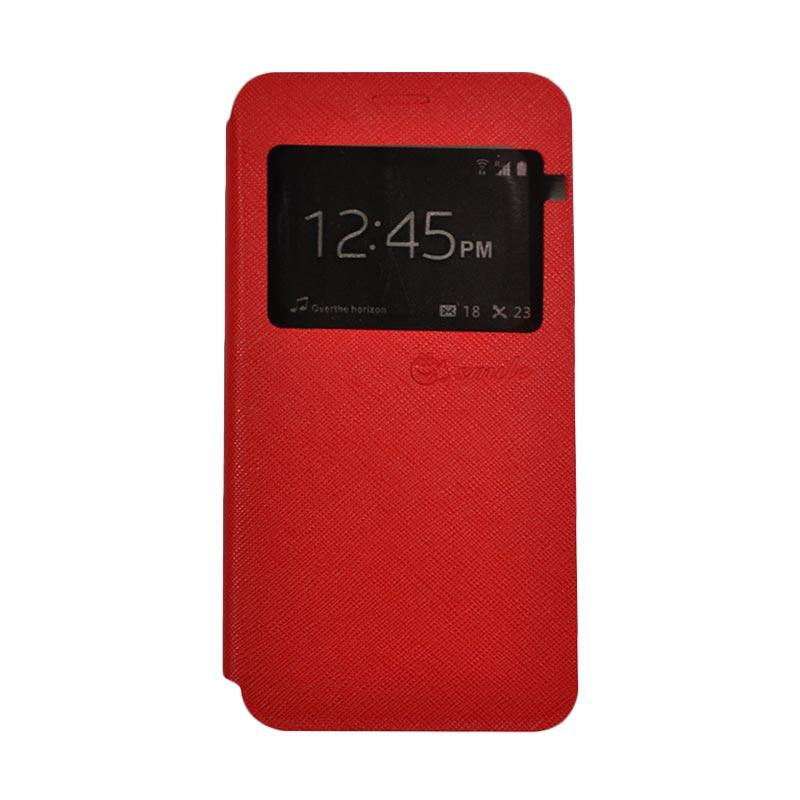 SMILE Standing Flip Cover Casing for Samsung Galaxy J2 Prime - Red