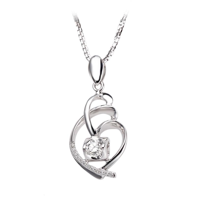 Tiaria DAKADZ009 Perhiasan Liontin Emas Putih [18K]