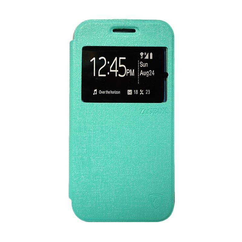 Zagbox Flip Cover Casing for Samsung Galaxy S7 Edge - Hijau Tosca