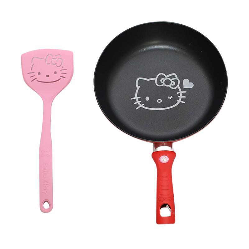 Maxim Hello Kitty Frypan Perlengkapan Dapur with Spatula [20 cm]