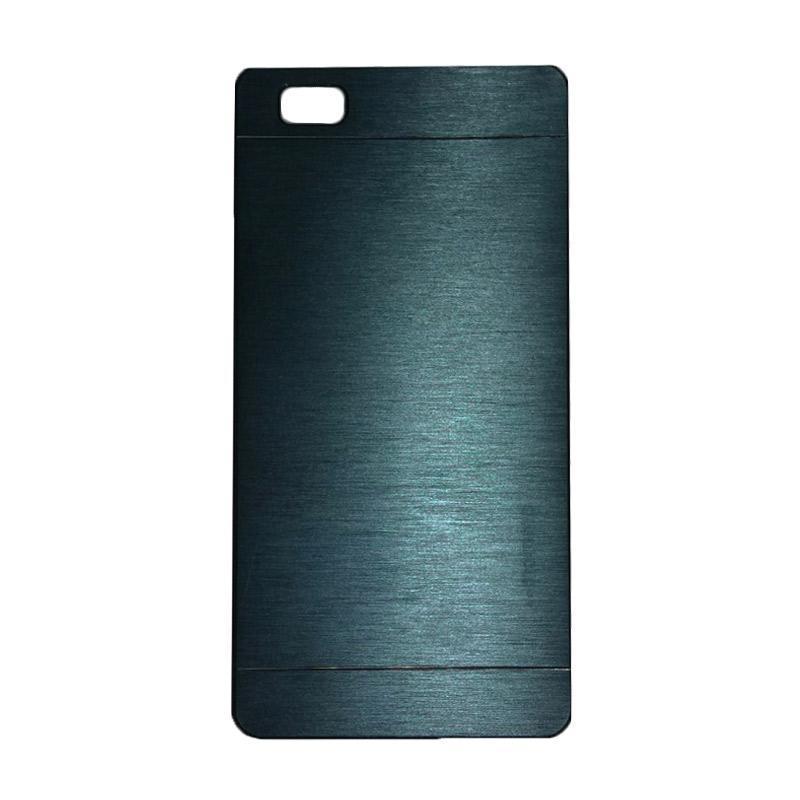 Motomo Metal Hardcase Backcase Casing for Huawei P8 Lite - Dark Blue