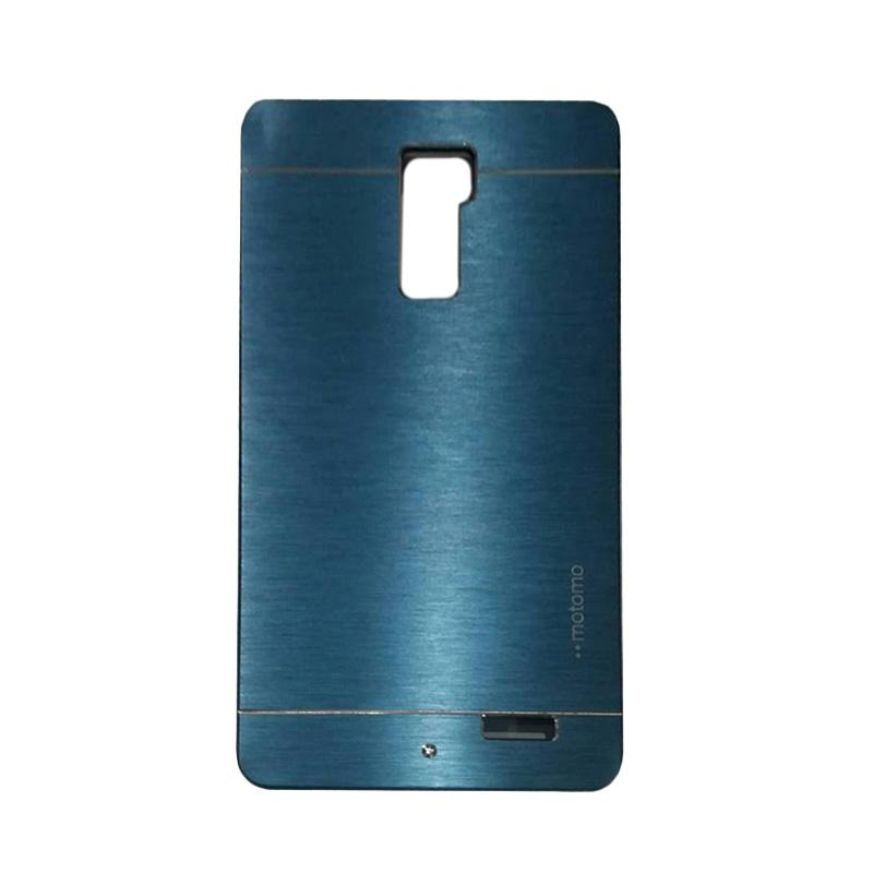 Motomo Metal Hardcase Backcase Casing for Oppo R7 Plus - Dark Blue