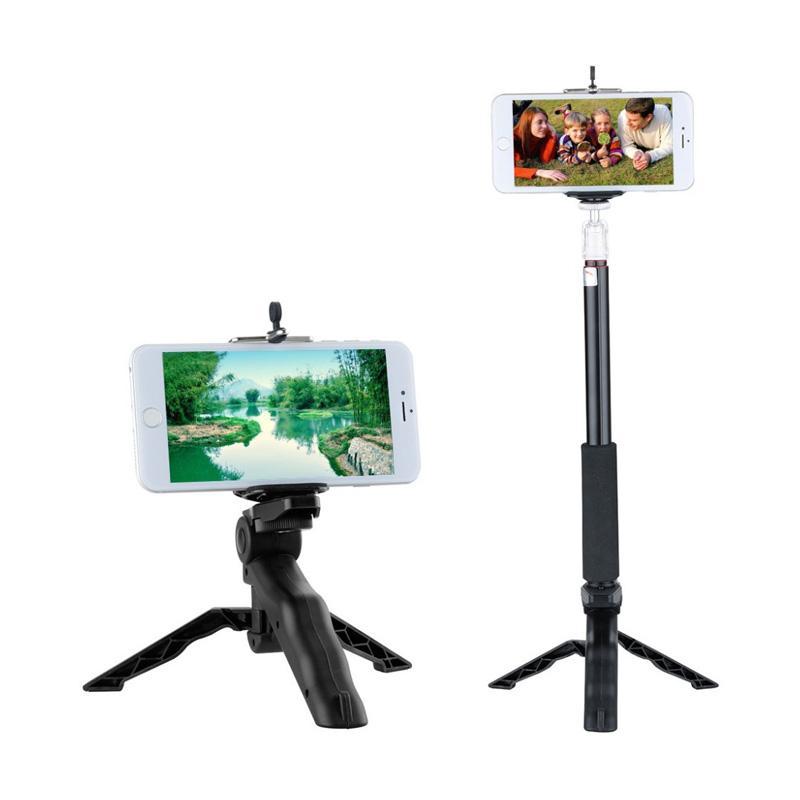 Jual Universal 2 in 1 Portable Mini Folding Tripod for DSLR - Black Online - Harga & Kualitas Terjamin | Blibli.com