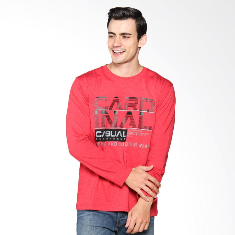 harga Cardinal Casual Youngmen Cotton T-Shirt Pria - Red EAIX012.11A Blibli.com