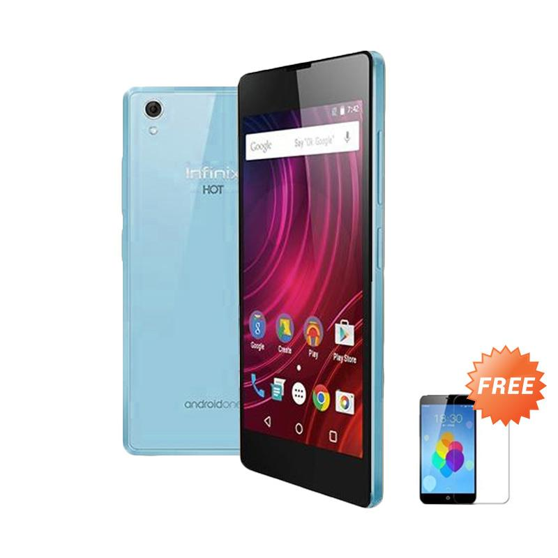Ultrathin Casing for Infinix Hot 2 - Blue + Free Tempered Glass Screen Protector