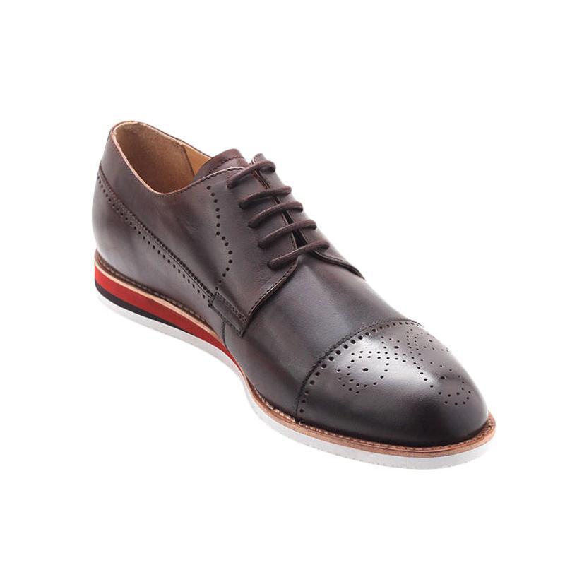 Ftale Footwear Thamrin Mens Shoes Choco Dark Sepatu Pria - Brown