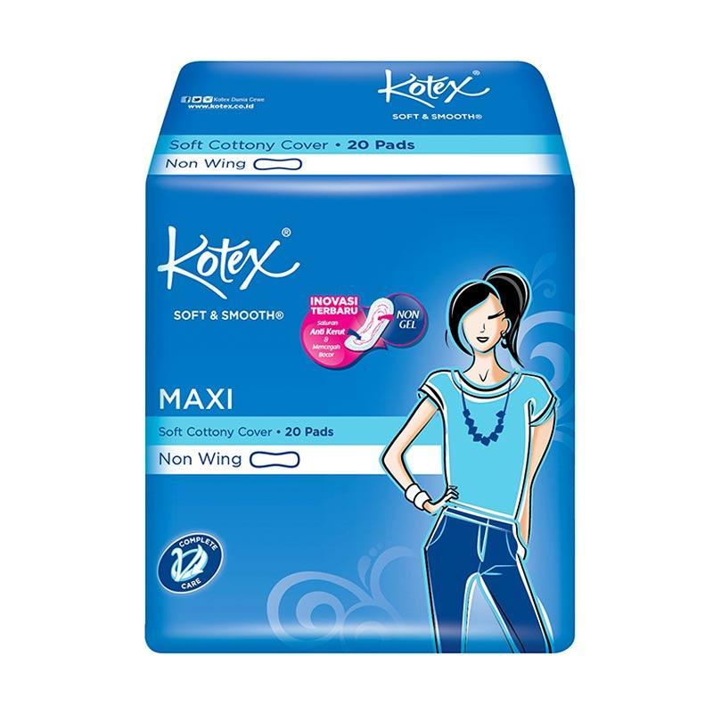 Kotex Soft & Smooth Maxi Plus Non Wing Pembalut Wanita [20 Pads]