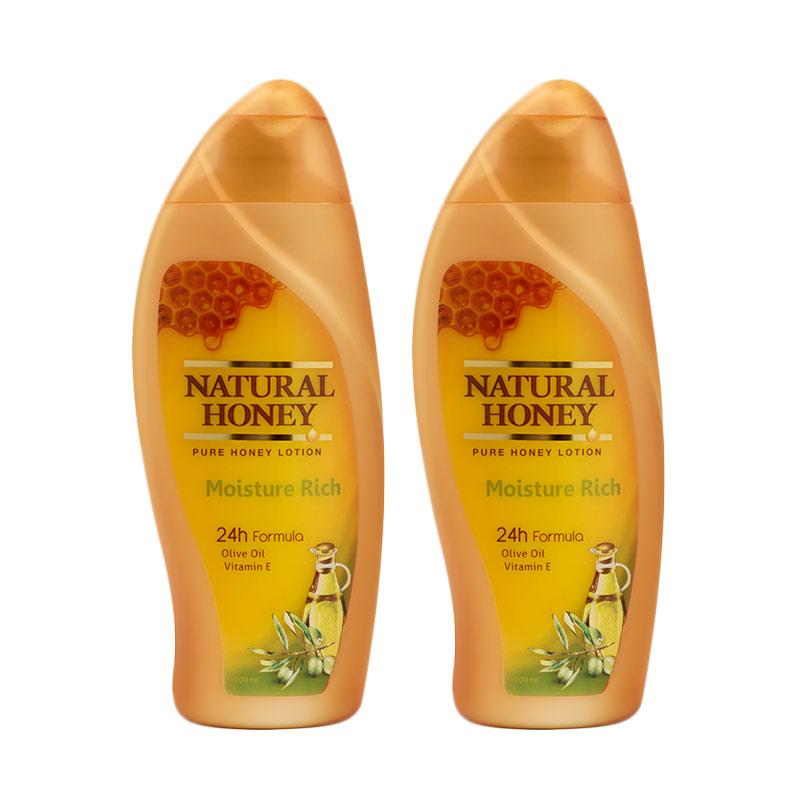 Natural Honey Hand & Body Lotion Moisture Rich [200 mL/ isi 2]