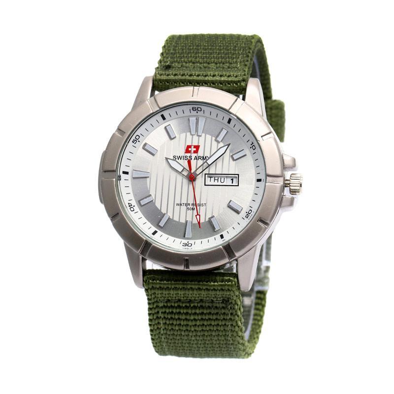 Swiss Army 029 Jam Tangan Pria - Hijau Putih