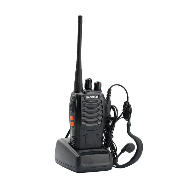 harga Baofeng Radio Walkie Handy Talkie - Hitam [UHF 16CH] + Free Earset Blibli.com
