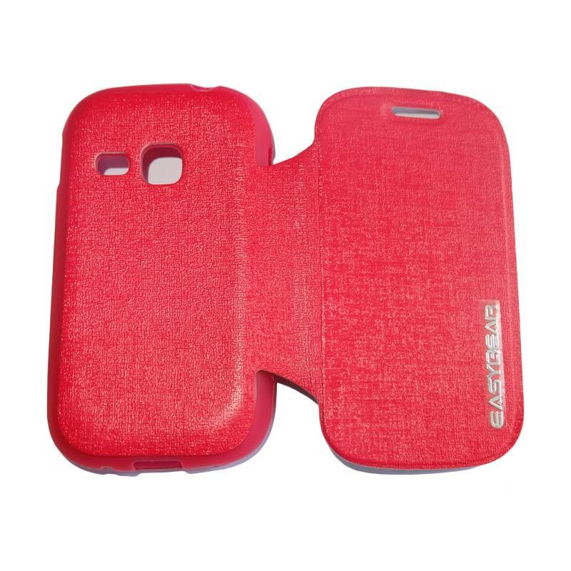 harga Easybear Flip Cover Casing for Samsung Galaxy Young S6310 - Merah Blibli.com