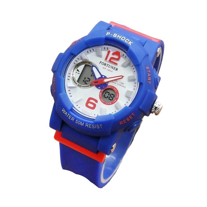 Fortuner J908AD Dualtime Rubber Strap Jam Tangan Wanita - Blue