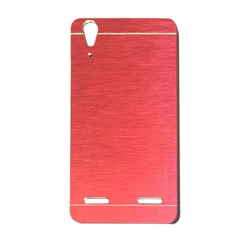 Motomo Metal Hardcase Backcase Casing for Lenovo A6010 or A6010 Plus - Red