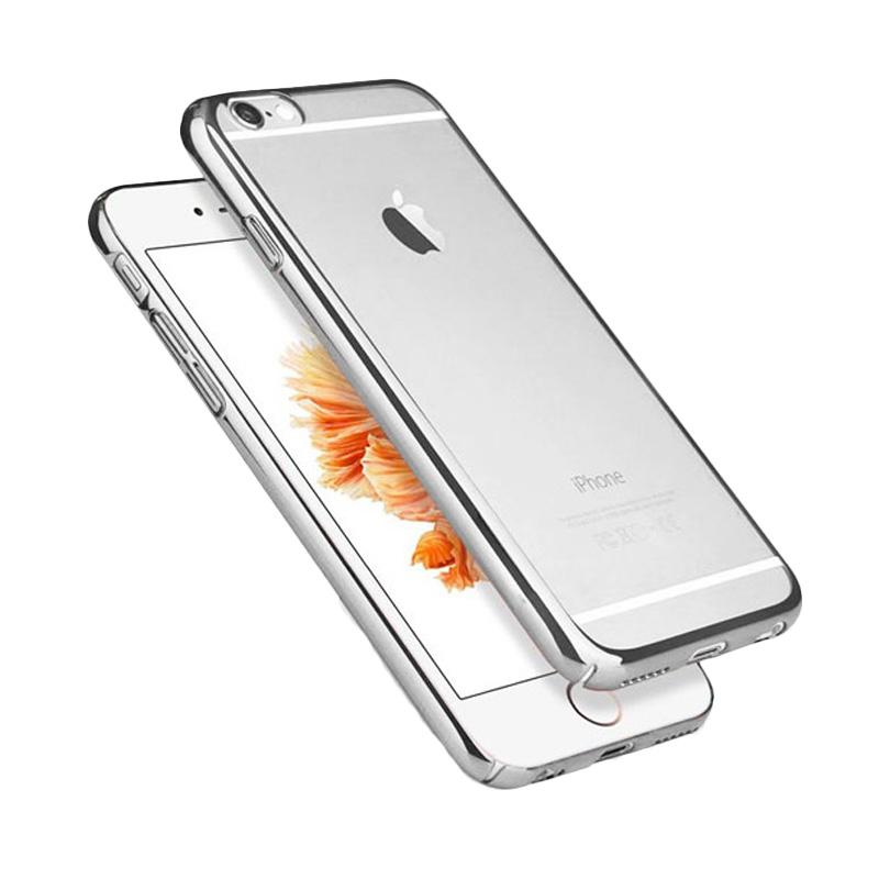 OEM Ultrathin TPU Shining Chrome Casing for iPhone 6 or 6s - Silver