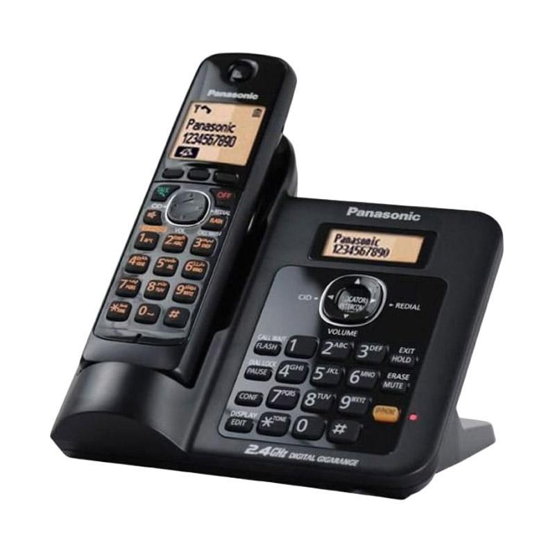 harga Telepon Wireless Cordless Panasonic KX-TG3811 - Telephone Rumah Kantor - BLACK Blibli.com