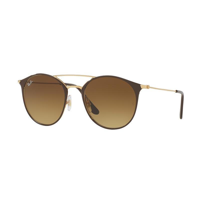 Ray-Ban RB3546 Sunglasses - Gold Top Brown [900985/ Size 52/ Brown Gradient]