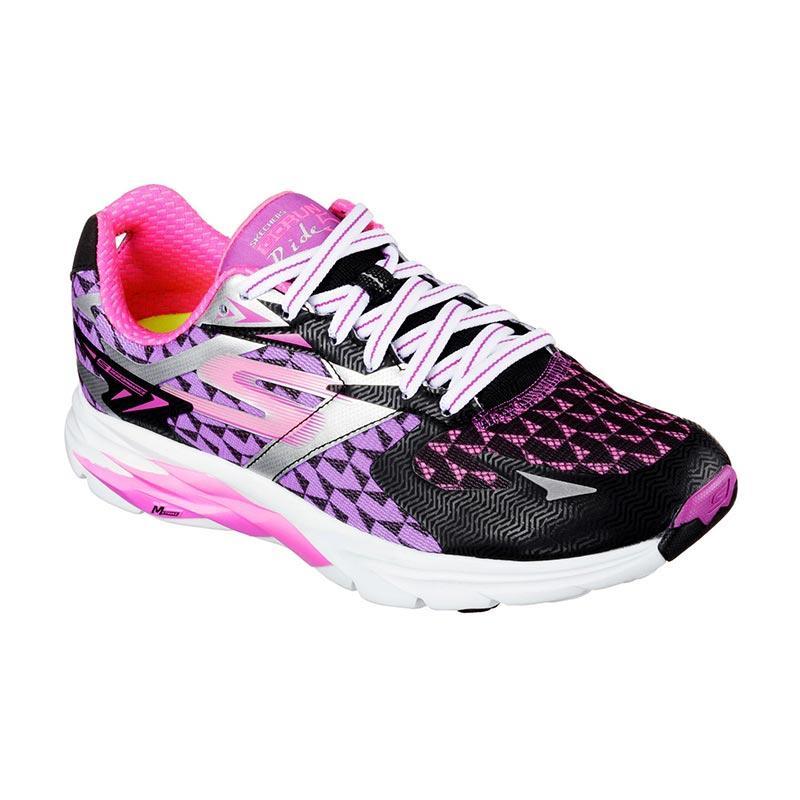 Skechers 13997BKPR Go Run Ride 5 Women Shoes Sepatu Lari Wanita