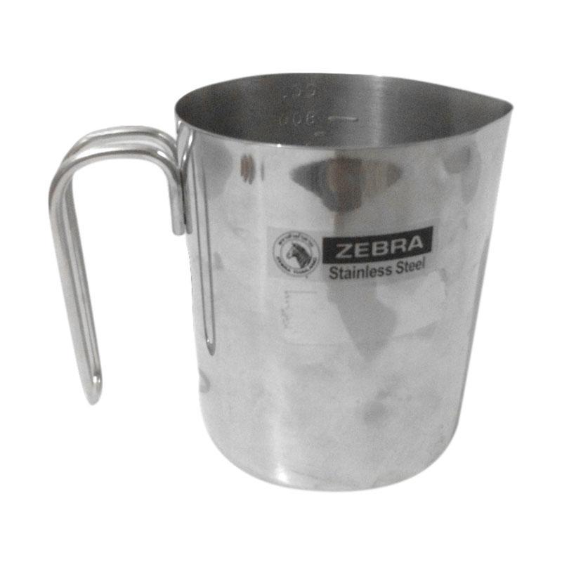 harga Zebra Stainless Steel Milk Jug Measurement Cup [800 mL] Blibli.com