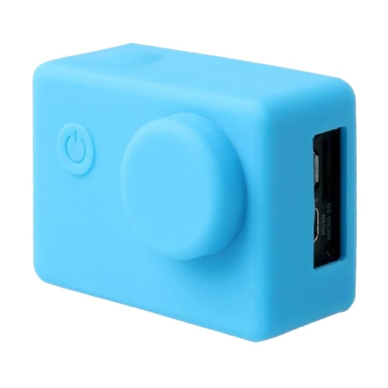 Brica B-PRO Alpha Edition AE Action Camera Silicone Case and Lens Cap - Biru
