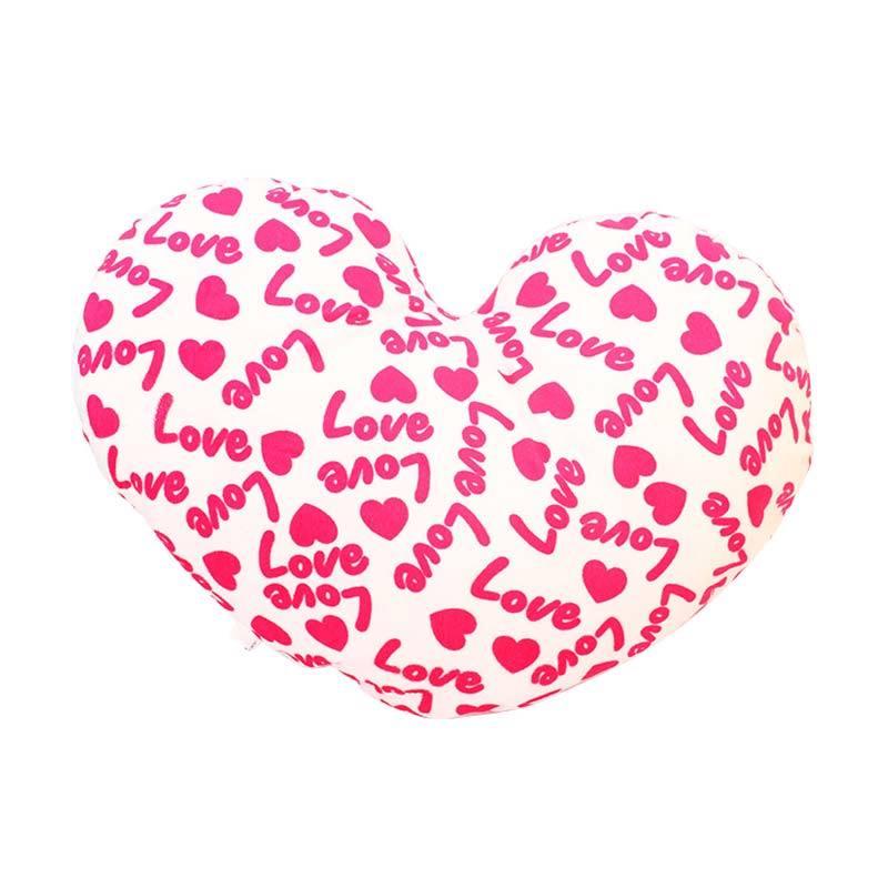 Istana Kado IKO00683 Love Valentine Text Heart Bantal - Merah