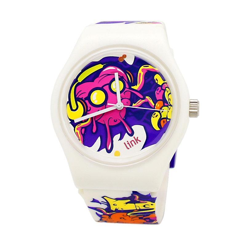 Linkgraphix XL03 Signature Funky Jam Tangan Pria - Putih