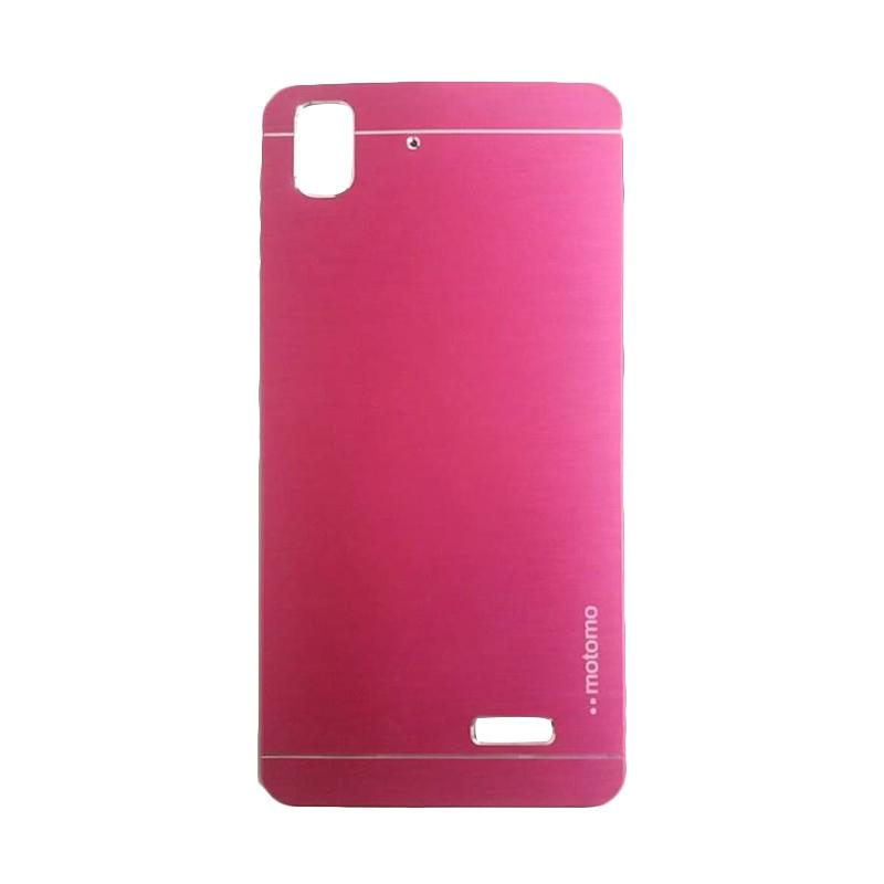 Motomo Metal Hardcase Backcase Casing for Oppo R7 or R7 Lite - Pink