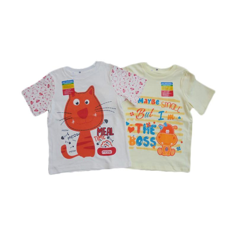 Piteku Hippo Boss Kuning dan I Love Meal T-Shirt - Merah Kuning