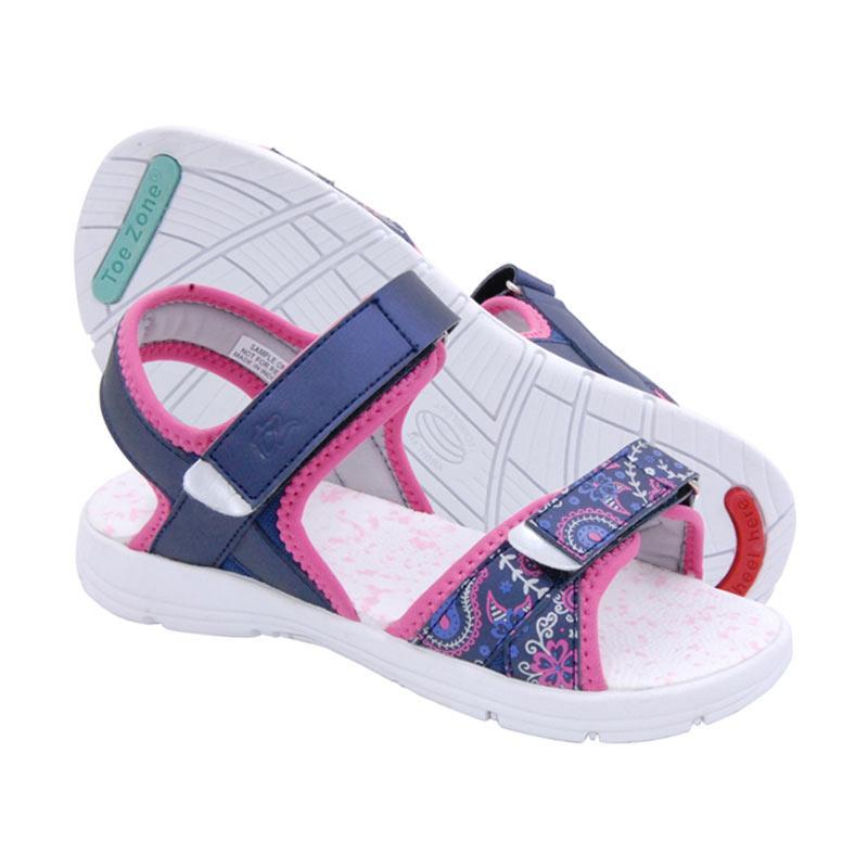 Toezone Kids Curtis Yt Sepatu Sandal Anak - Navy Flora