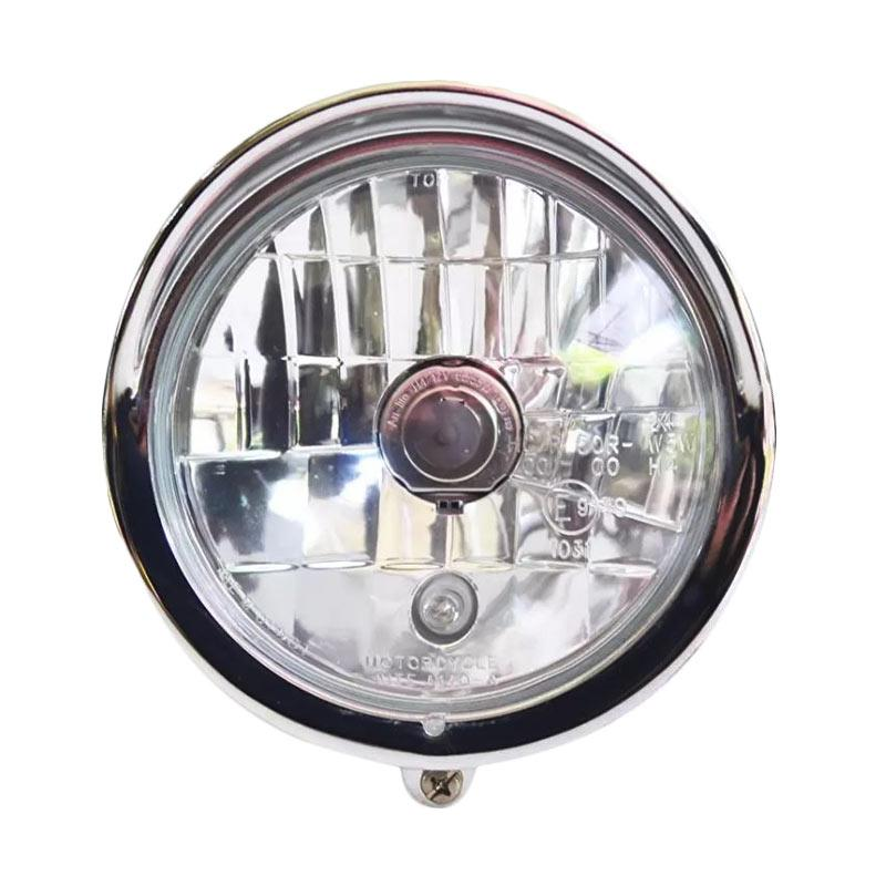 Raja Motor Model Harley Lampu Tembak Depan - Chrome [LAD7002-Chrome]