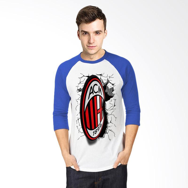 T-SHIRT GLORY 3D AC Milan Elegant Kaos Raglan - Putih Biru Extra diskon 7% setiap hari Extra diskon 5% setiap hari Citibank – lebih hemat 10%