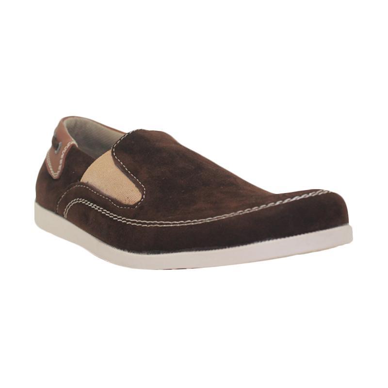 harga D-Island Casual Loafers Comfy Slip On Brown Sepatu Pria Blibli.com