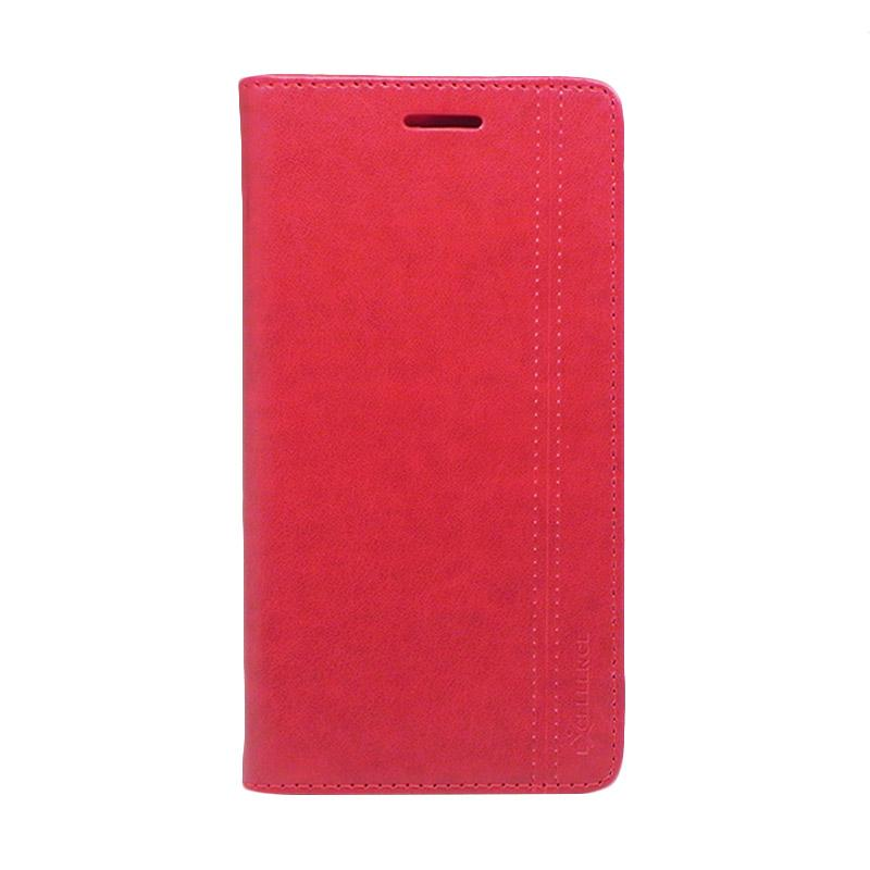 Excellence Evee Flip Cover Casing for Asus Zenfone 3 ZE552KL - Red
