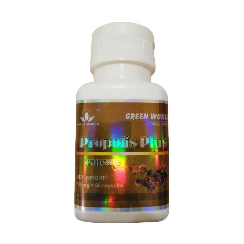 Green World Propolis Plus Capsule Suplemen Kesehatan