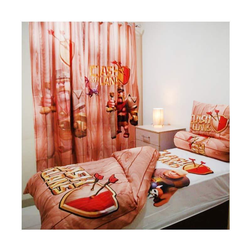 harga Odette Themehome Clash of Clans Quilt Set Cover [140 x 200 cm] Blibli.com