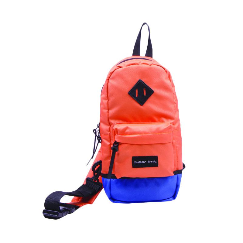 Outer Limit BSL.06 One Shoulder Backpack - Orange Royal Blue