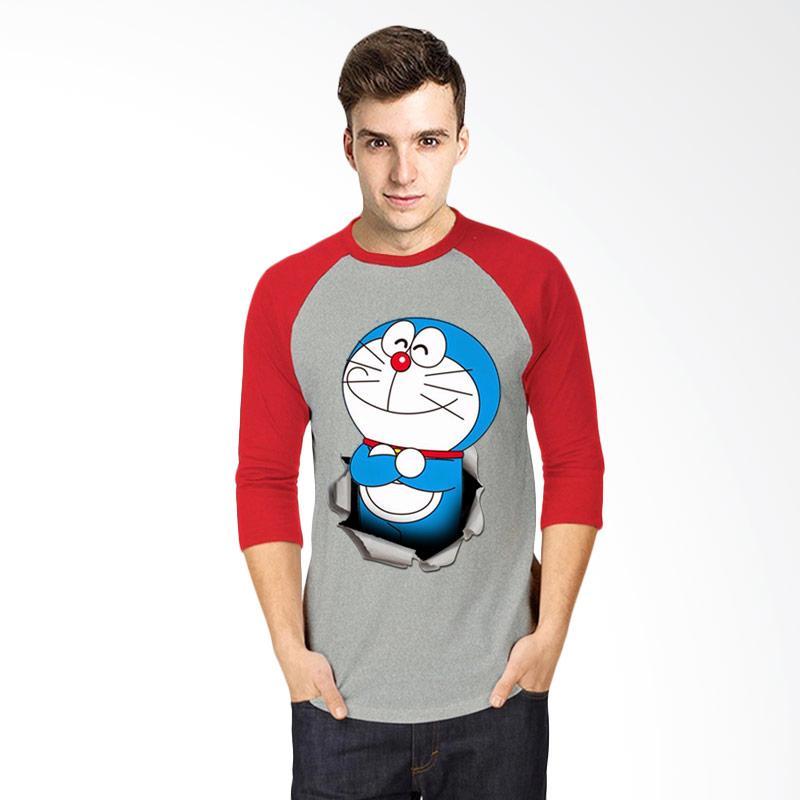 harga T-Shirt Glory Kaos 3D Doraemon Ajaib Raglan Pria - Abu Merah Blibli.
