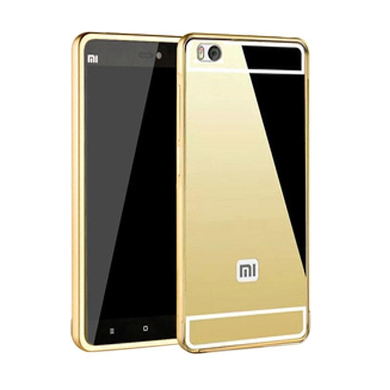 harga Bumper Case Mirror Sliding Casing for Xiaomi Redmi Mi4i - Gold Blibli.com