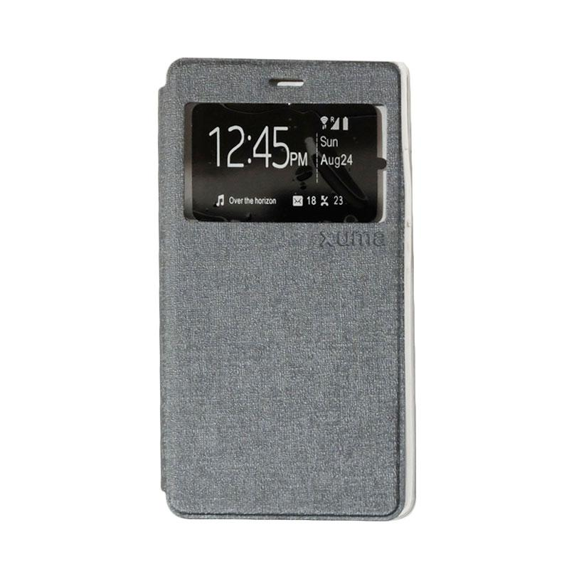 Enigma Flip Cover Casing for ZTE Blade A711 - Silver
