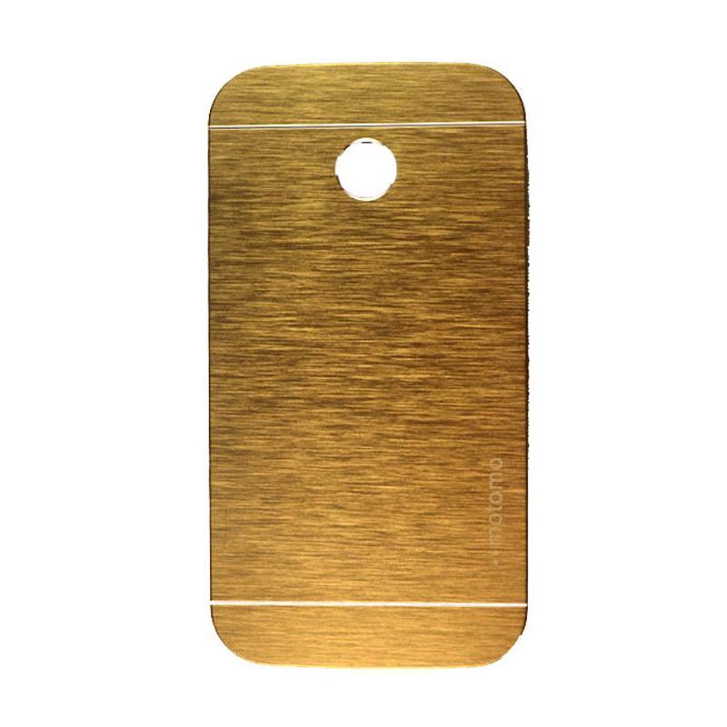 Motomo Metal Hardcase Casing for Motorola Moto E - Gold