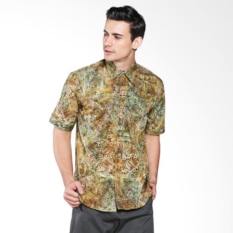 Batik Pria Tampan Fleur De Lis PKMPD-04081656C Men Shirt - Green