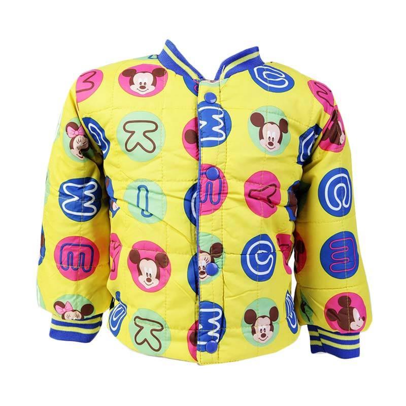 Chloebaby Shop F996 Bubble Mickey Long Sleeve Jaket - Yellow