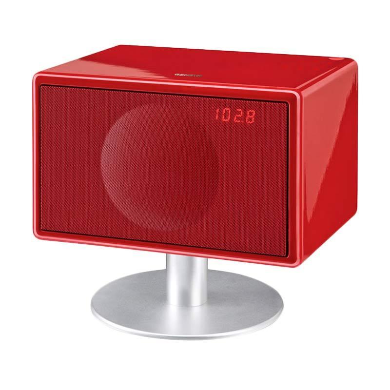 harga Divoom Geneva Sound System Model S Bluetooth Home Audio - Red Blibli.com