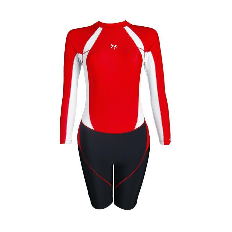 harga Lasona TRJ-S1844-L4 Baju Terusan Renang Anak Lengan Panjang - Red Black Blibli.com
