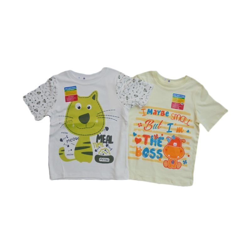 Piteku Hippo Boss Kuning dan I Love Meal T-Shirt - Kuning Hijau