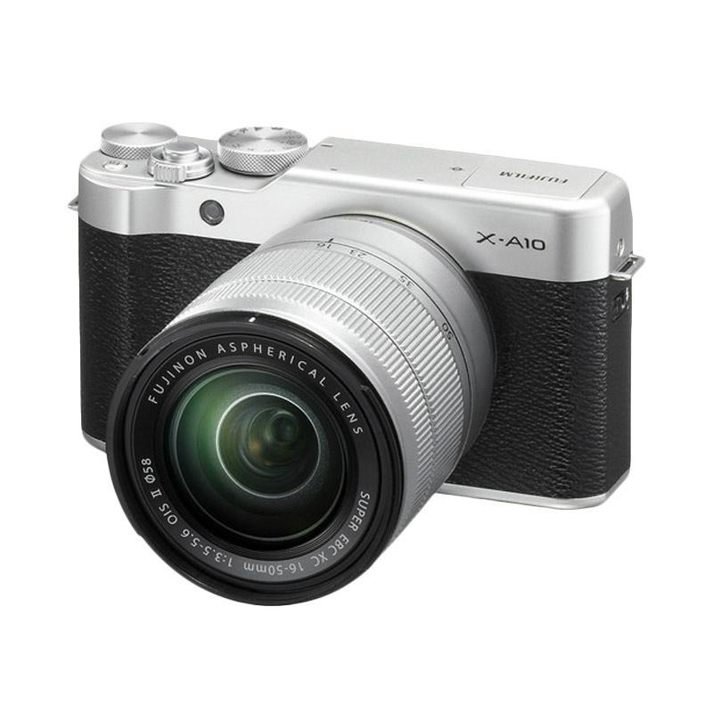 Fujifilm X-A10 Mirrorless Digital Camera with 16-50mm Lens - Silver