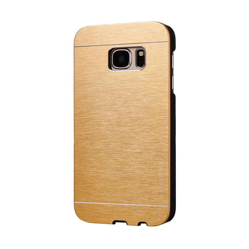 Motomo Metal Hardcase Backcase Casing for Samsung Galaxy S7 - Gold