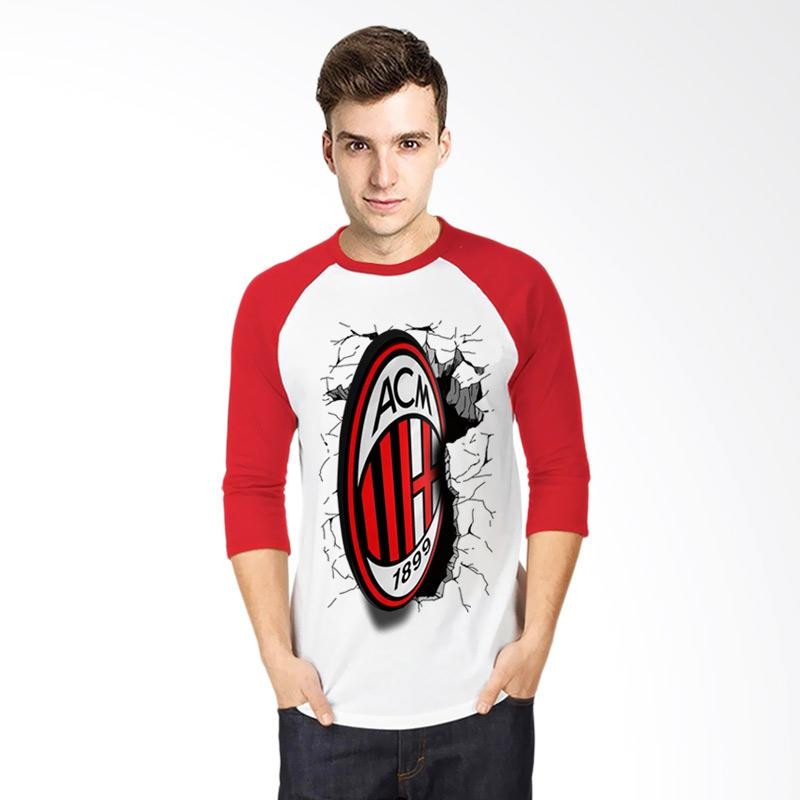 T-Shirt Glory Kaos 3D Ac Milan Elegant Raglan - Putih Merah Extra diskon 7% setiap hari Extra diskon 5% setiap hari Citibank – lebih hemat 10%